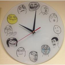 """Настенные часы """"Troll Face"""""""
