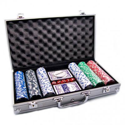 Набор покер 300 фишек в металлическом кейсе