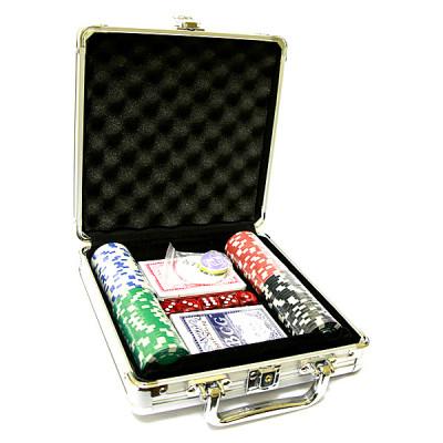 Набор покер 100 фишек в металлическом кейсе