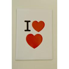 """Обложка для паспорта """"I love love"""""""