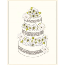 """Открытка свадебная """"Торт"""""""