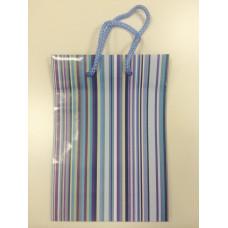 Пакет подарочный полосатый 14Х20