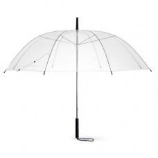 Зонт прозрачный с черной ручкой
