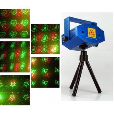 """Лазерный проектор мини """"Лазерное Шоу №8"""" синий"""