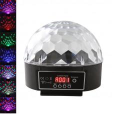 Светодиодный вращающийся ДИСКО-ШАР LED RGB Magic Ball Light LCB003 (с возможностью программирования)