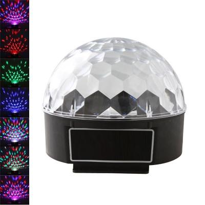 Светодиодный вращающийся ДИСКО-ШАР LED RGB Magic Ball Light LCB001 со стробоскопом!