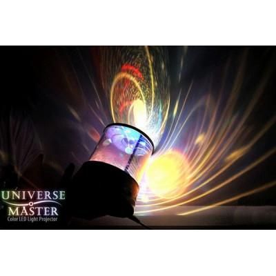 """Ночник - Проектор """"Universe Master Галактика"""" вращающийся с музыкой"""