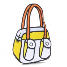 "Мультяшная сумка ""Jump from Paper"" BONJOUR. Желтый, Синий, Розовый"