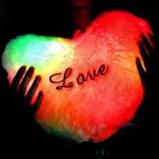 Светящаяся подушка Сердце
