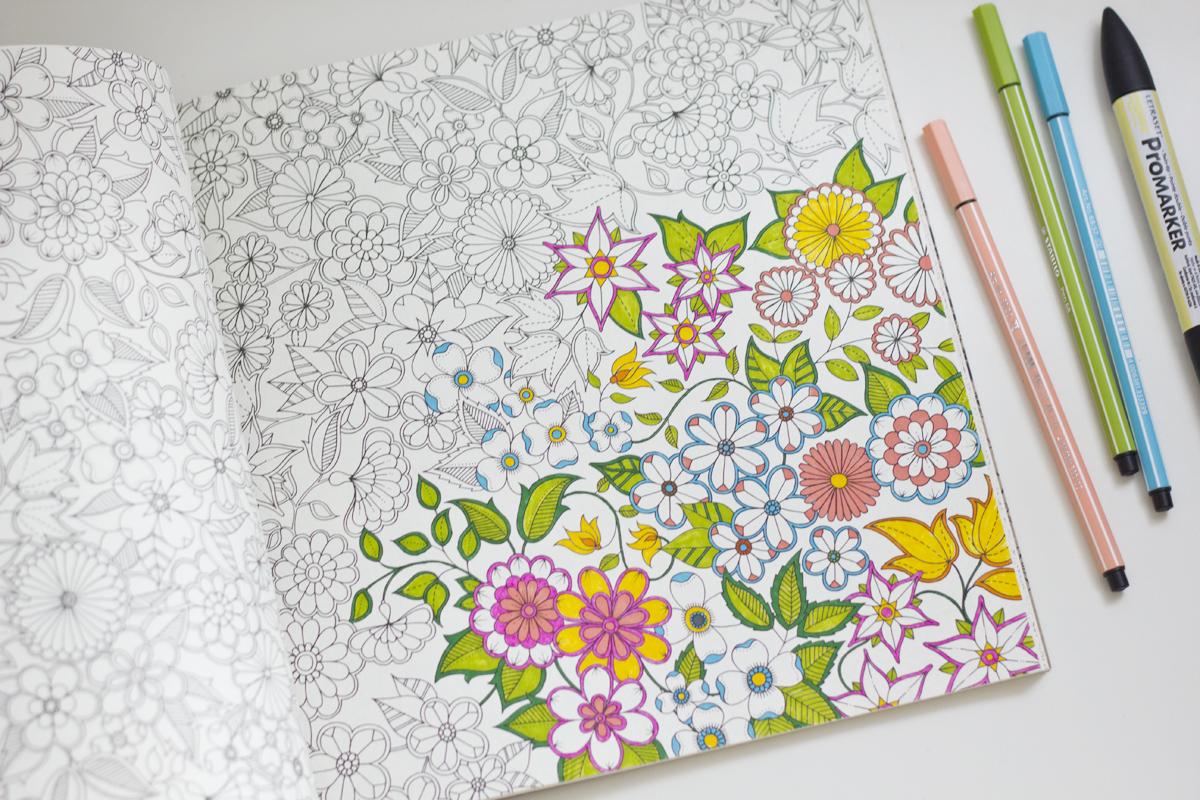 Чем красить антистрессовую раскраску
