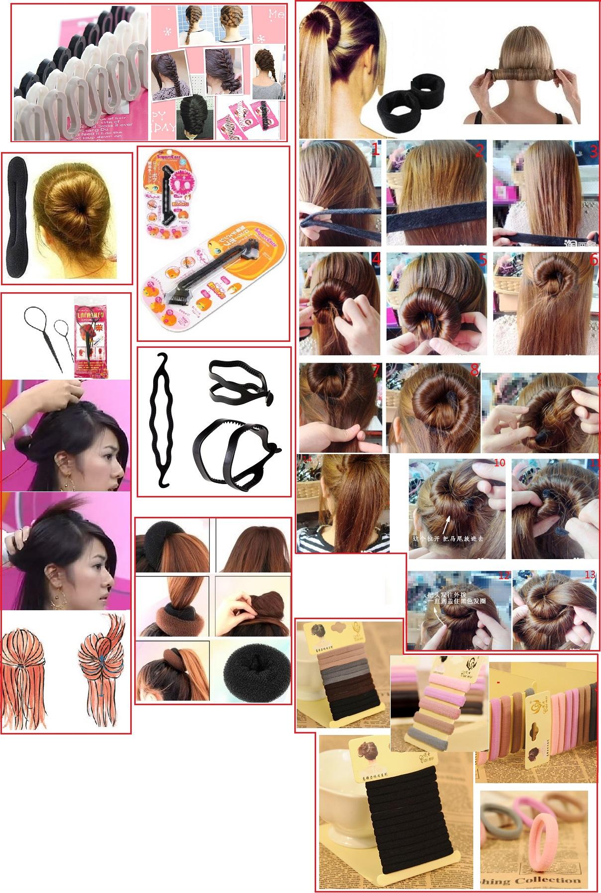 Как сделать прическу с помощью петельки для волос